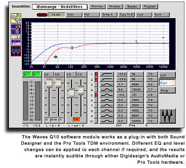 Waves Q10 EQ in use