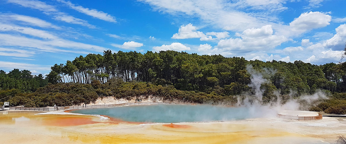 Champagne Pool and Artist's Palette, Roturua
