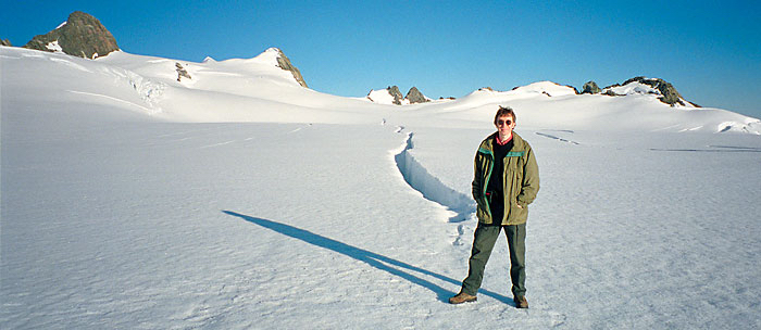 Clive Williamson in a snowy New Zealand landscape