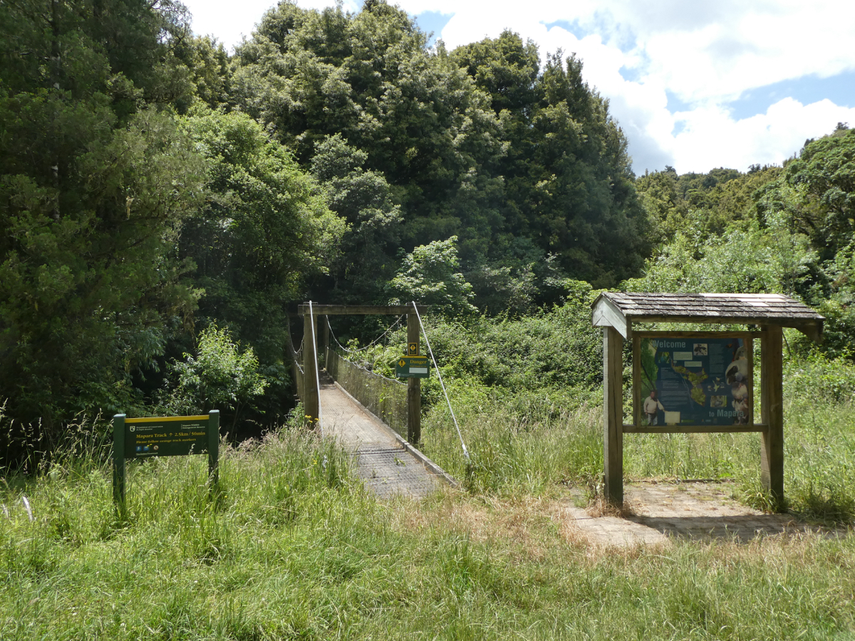 Entrance to Mapara Reserve (King Country)